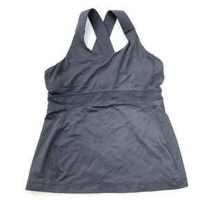 lululemon | Grey Criss-Cross Tank